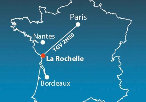 Carte La Rochelle France.Inlingua La Rochelle La Rochelle France