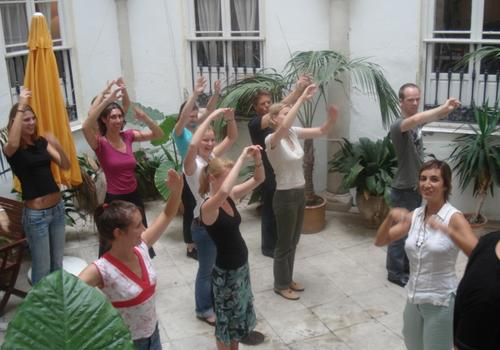 Flamenco with the students