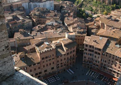 View of Siena from the Torre del Mangia
