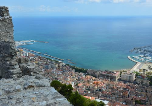 Salerno from the Arechi castle