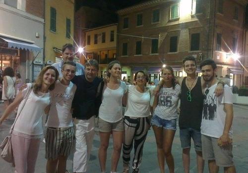 students by night in Santarcangelo